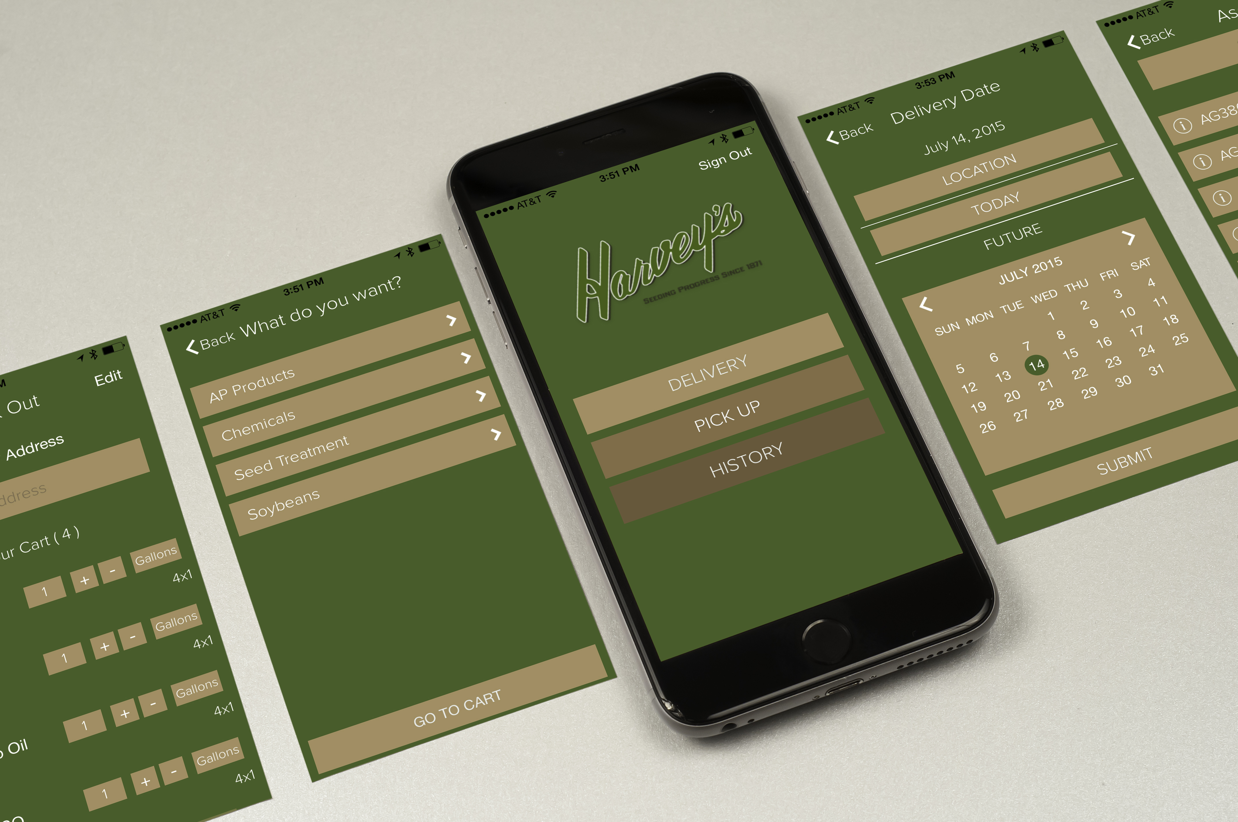 iPhone App iPad App Harvey's App
