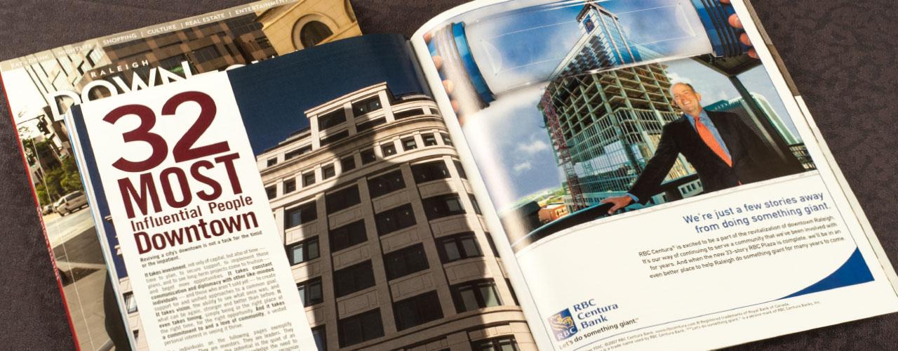 Magazines - Downtown Raleigh Magazine Design