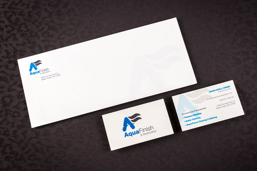 Aqua Finish brand Identity
