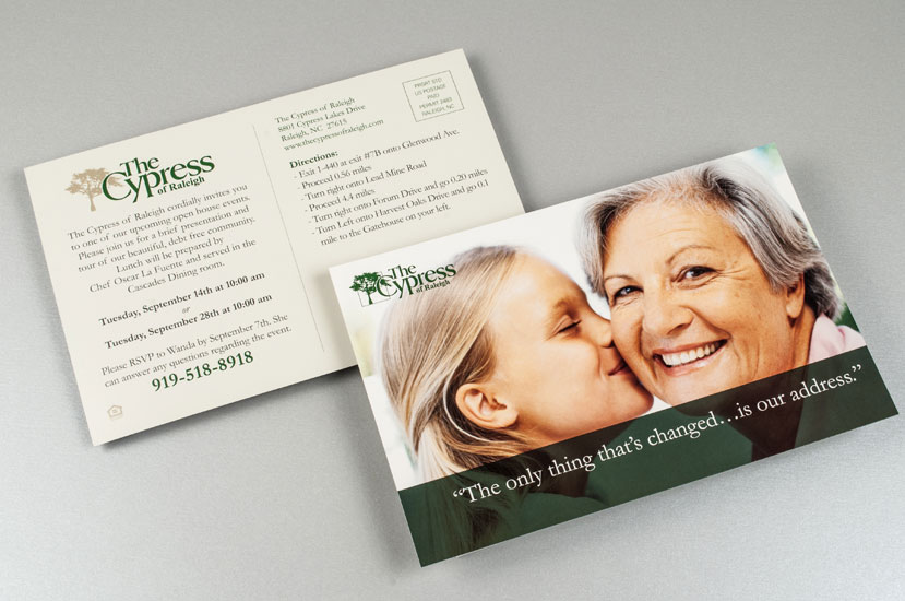 Cypress of Raleigh Direct Mail - Change for the Better!