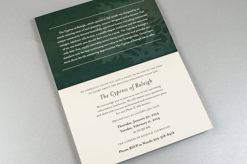 Cypress of Raleigh Mailer - Discover the Difference Invitation