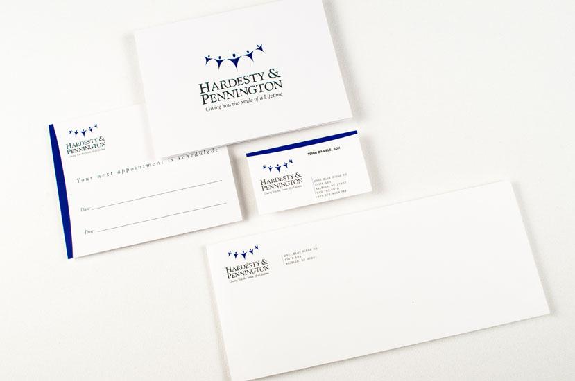 Hardesty & Pennington Dentistry Brand Identity cards