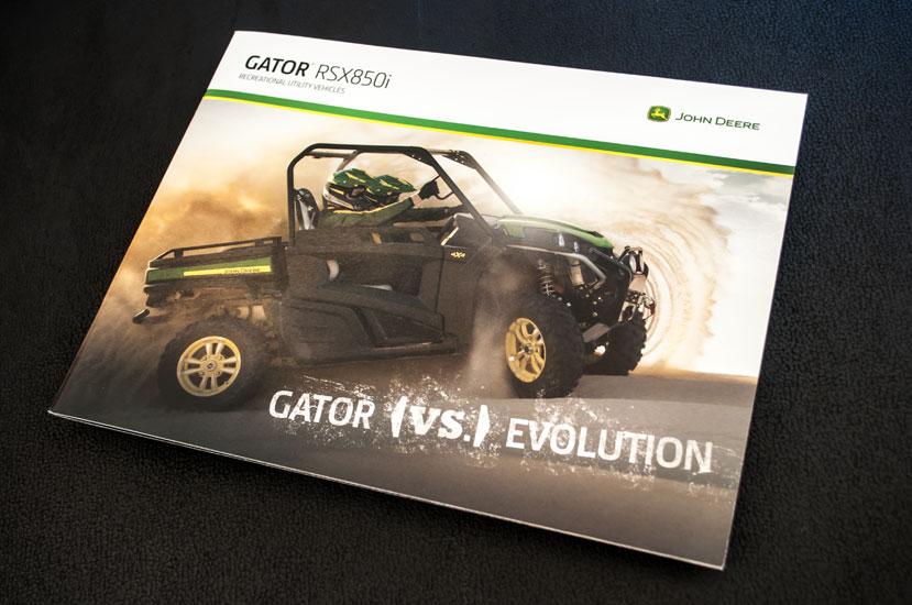 John Deere Gator vs. Evolution Brochure