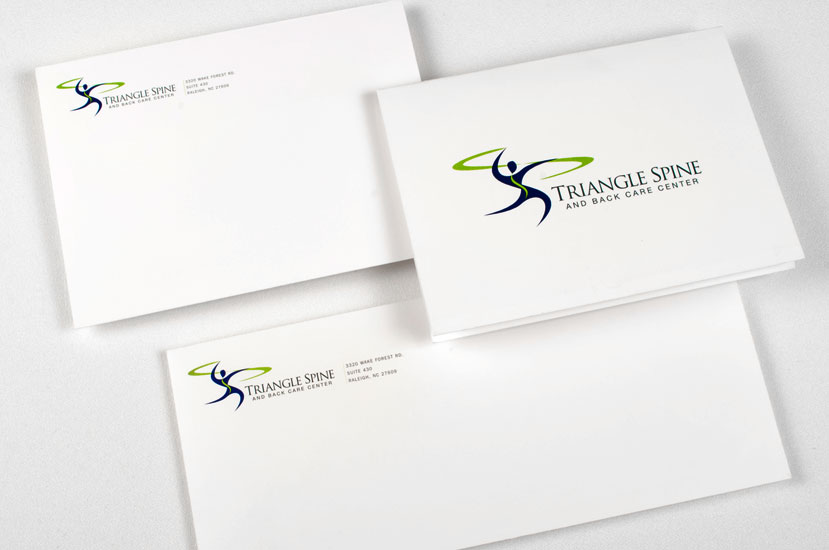 Triangle Spine And Back Care Center logo design