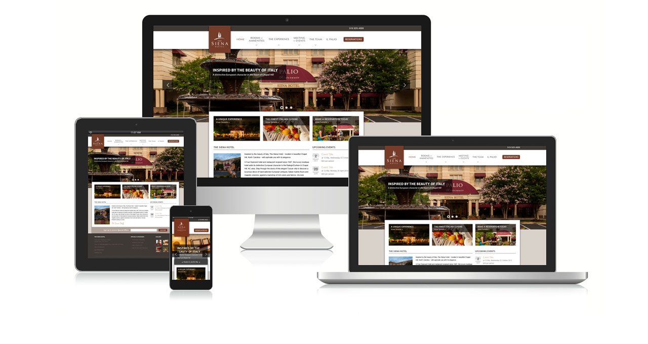 The Siena Hotel website