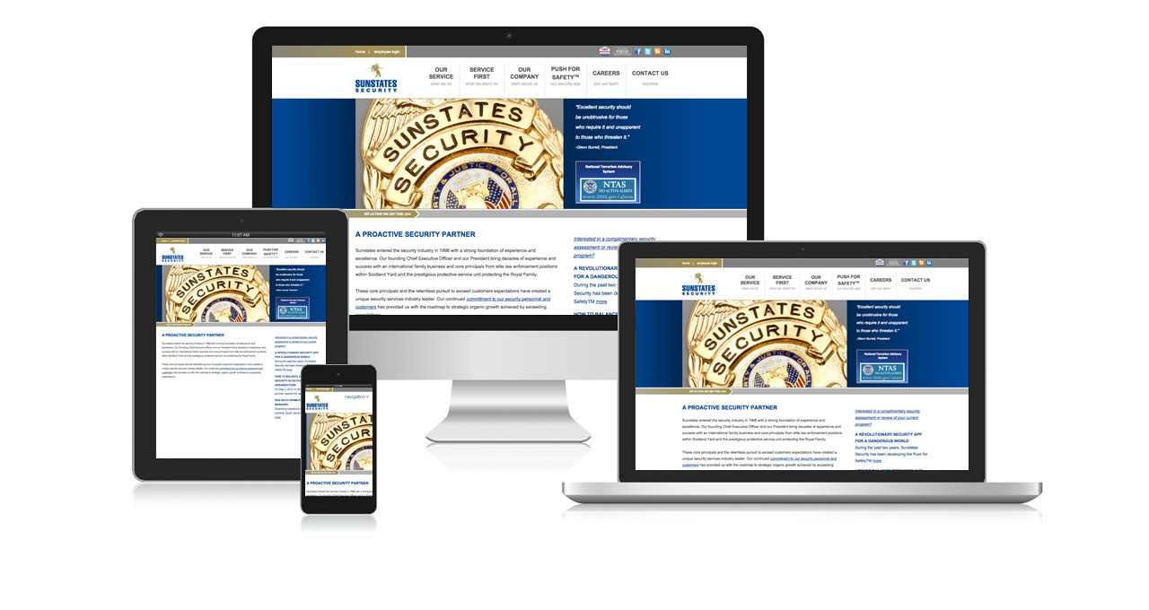 Sunstates Security Website