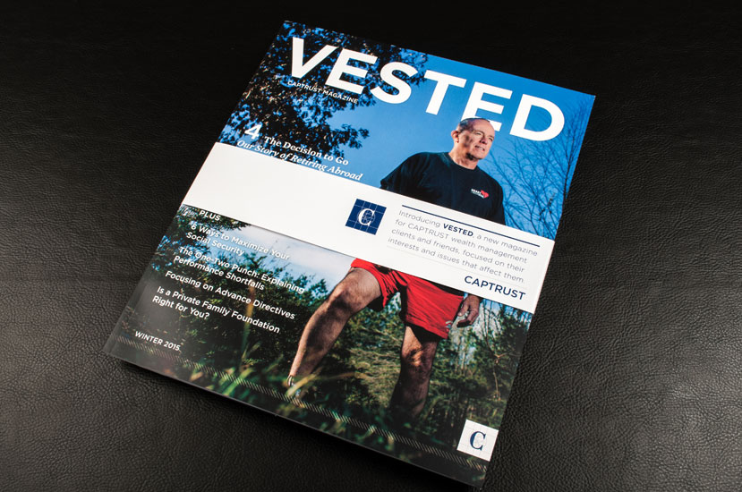 Vested Magazine front cover design