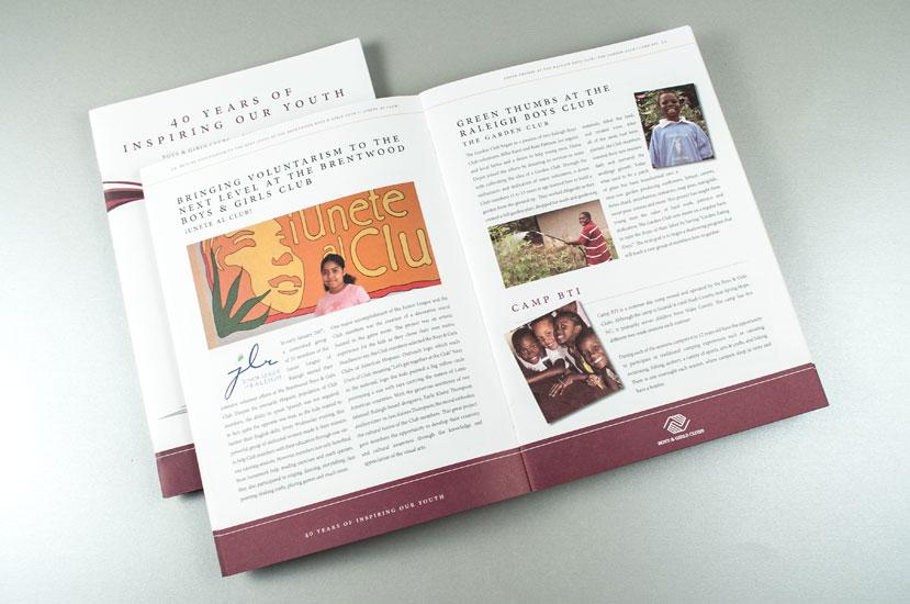 Annual report design interior spread