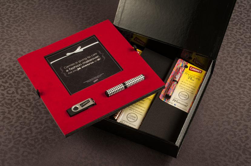 Carmex Press Kit Design | Generate Design