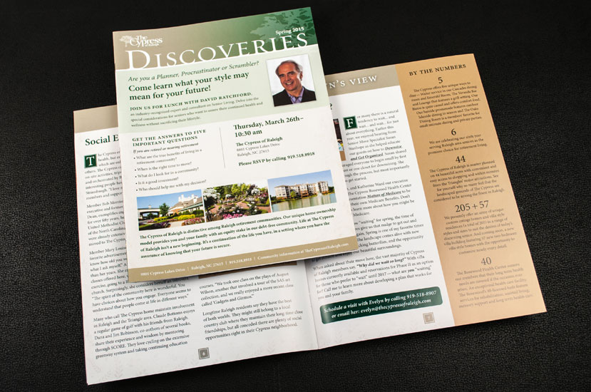 Good Newsletter Design examples Newsletter Design Raleigh NC - The Cypress Discoveries Newsletter