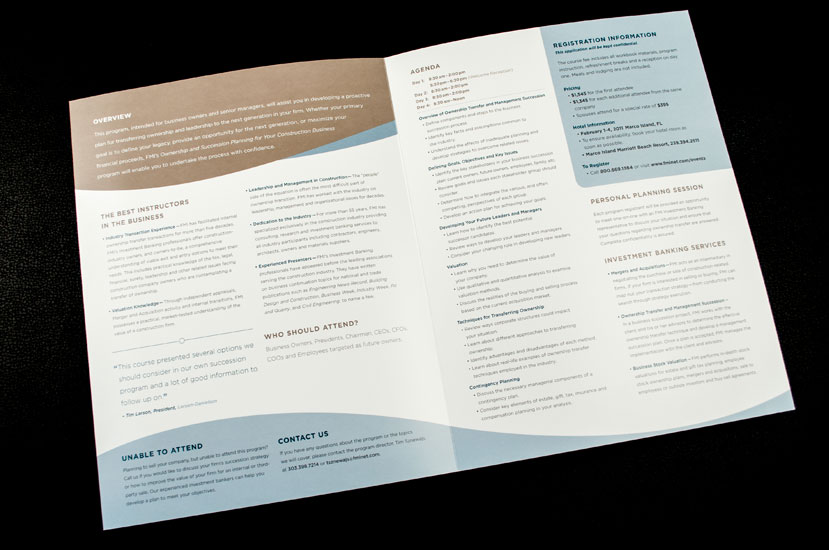 Ownership Succession Plan brochure design