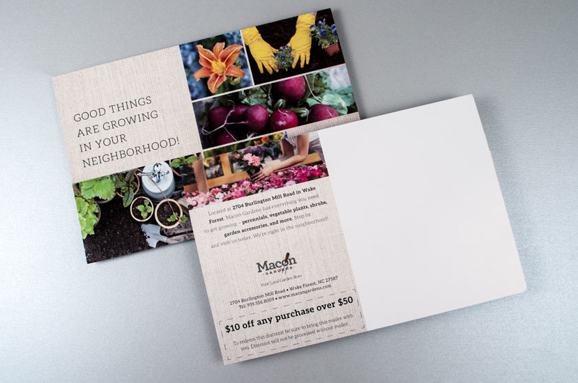 Direct Mail Design for Macon Gardens