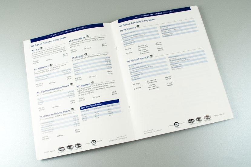 NSI Lab Solutions Proficiency Testing Catalog - Interior Spread Design