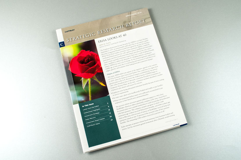 CAPTRUST Strategic Research Quarterly Report Design - Cover