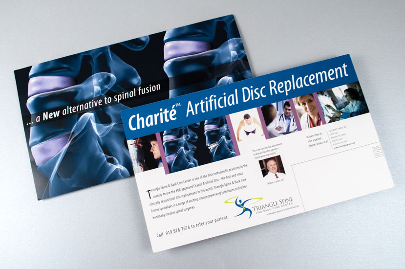 Direct Mailer Design for Triangle Spine and Back Care Center