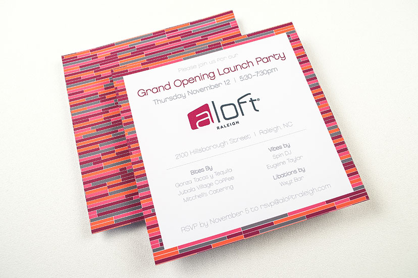 Aloft Direct Mail - Grand Opening Invite
