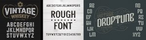 Sample of Typography. Fonts Serve Different Purposes. Find out what they are