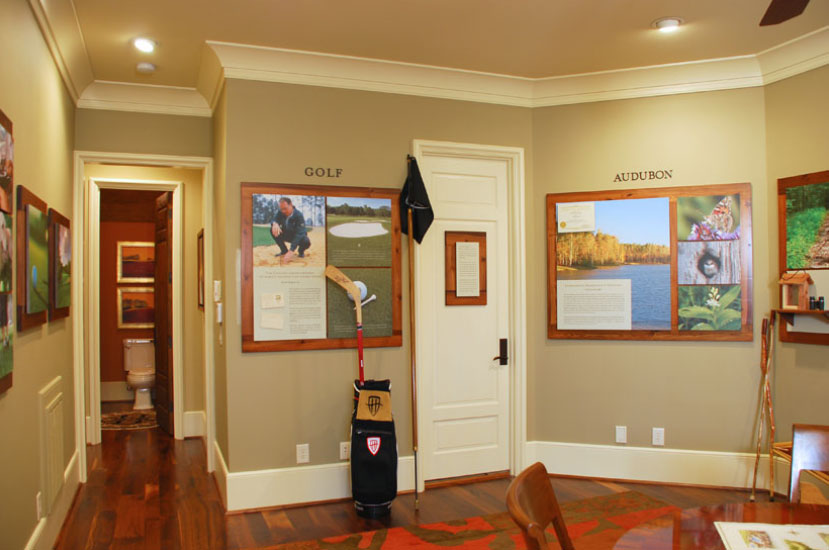 Hasentree Sales Center Golf Wall