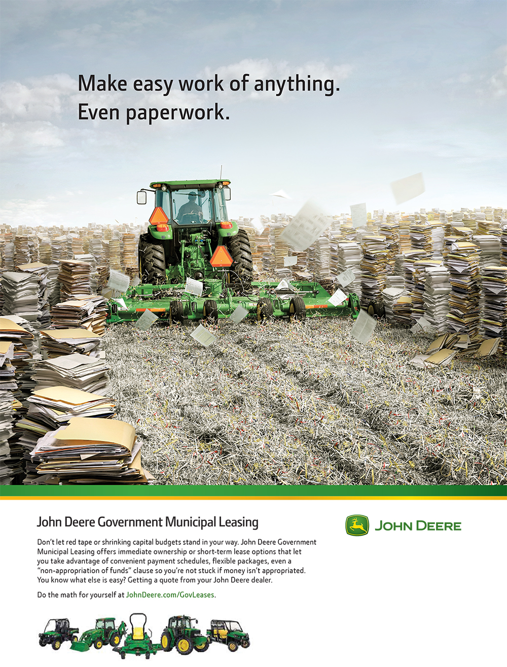 John Deere Government Municipal Leasing Ad