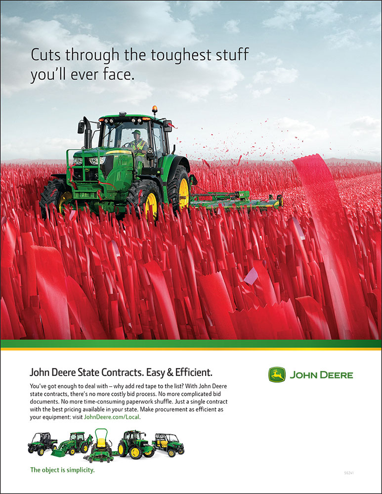 John Deere State Contracts Ad