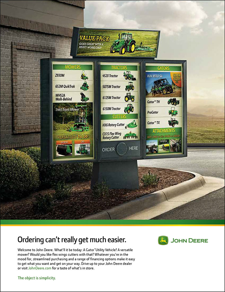 Streamlined Purchasing ad - John Deere