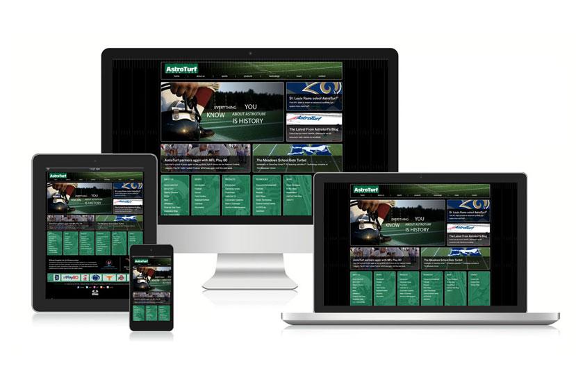AstroTurf website displayed on multiple devices