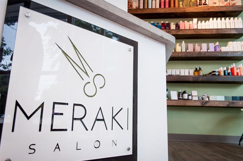 Meraki Salon Reception Area