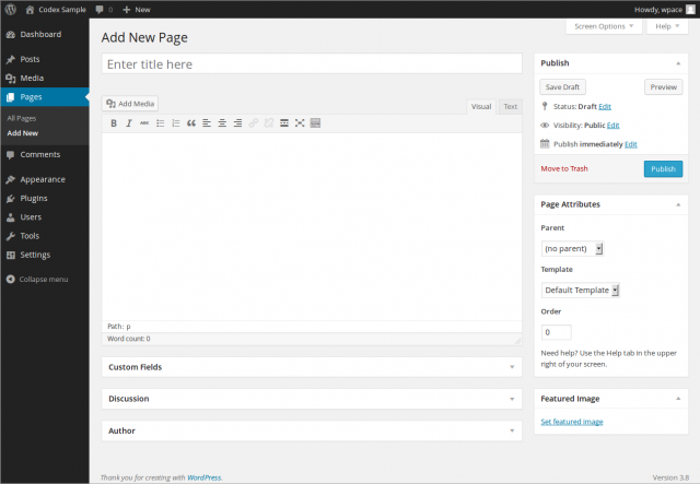 Wordpress post and page creation looks just like MS Word, making it very easy to use